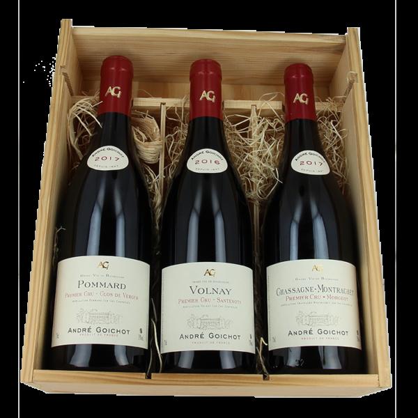 Vins de Bourgogne - Pinot Noir - Pommard 1er Cru - Volnay 1er Cru - Chassagne-Montrachet 1er Cru