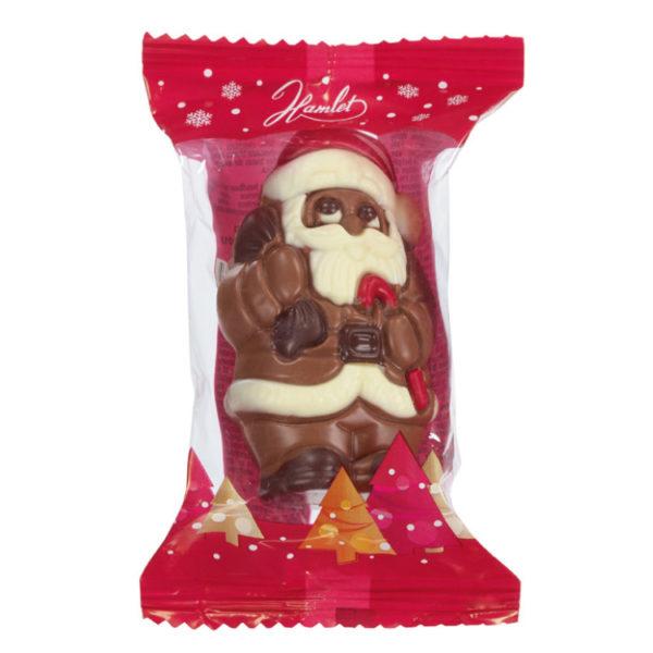 Père Noël au chocolat au lait - Sachet de Noël pour C.E.