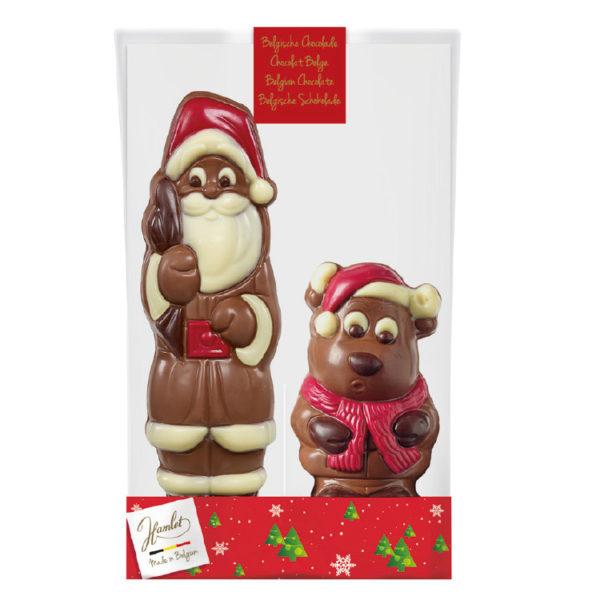 Père Noël au chocolat & Elan Jules - Sachet de Noël - Comité d'entreprise