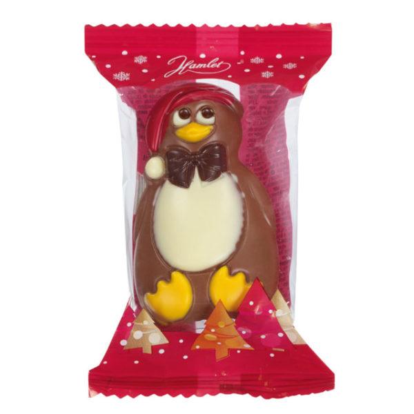 Pingouin au chocolat au lait - Sachet de Noël pour C.E.