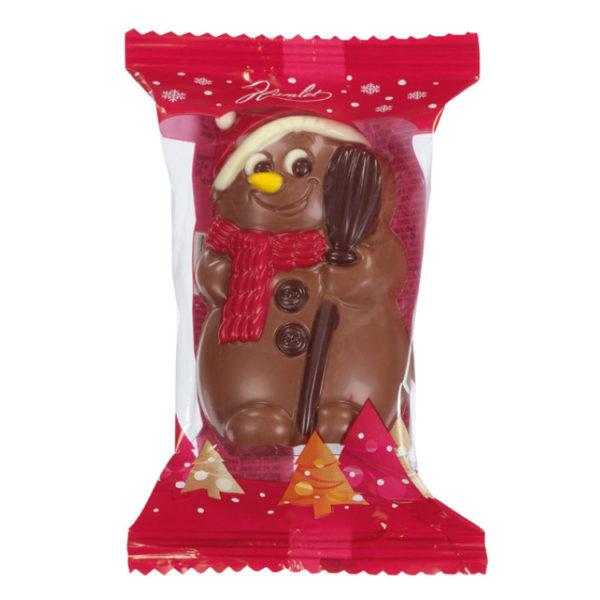 Bonhomme de Neige au chocolat au lait - Sachet de Noël pour C.E.